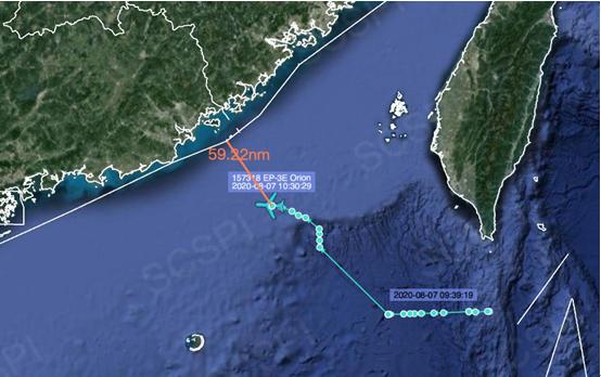 美军又派电子侦察机进入南海一度飞近广东沿岸