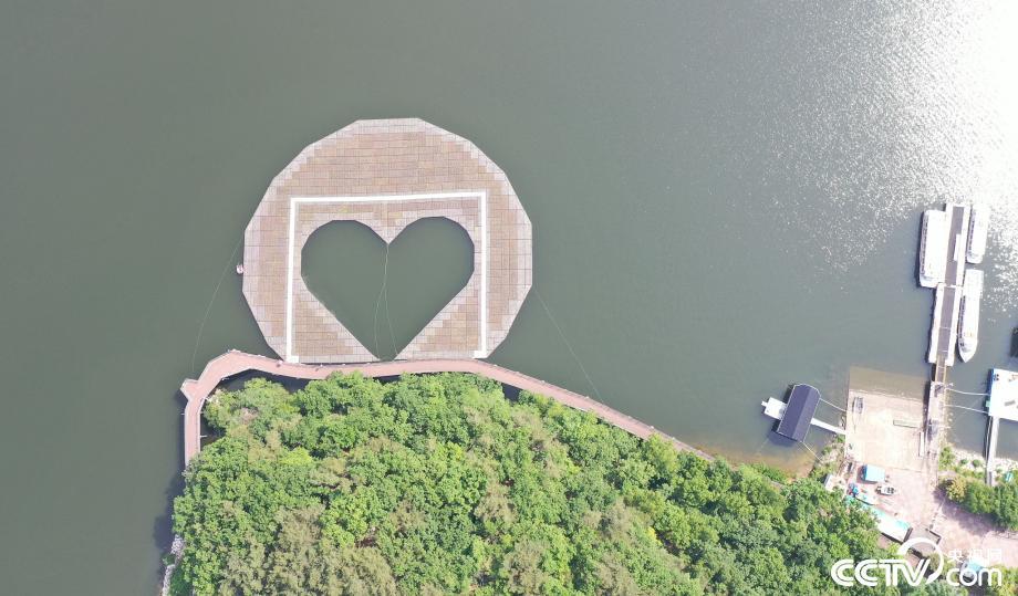 韩国建造心形人工水草岛改善水质
