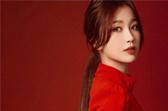 虞书欣身着红色连衣裙出席LV春夏男装大秀
