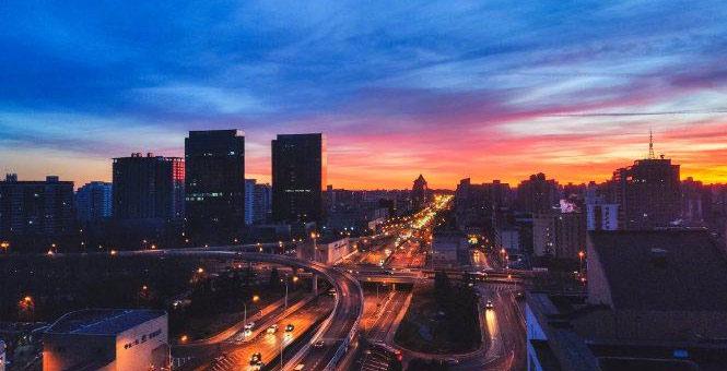 今日北京的朝霞,太美!