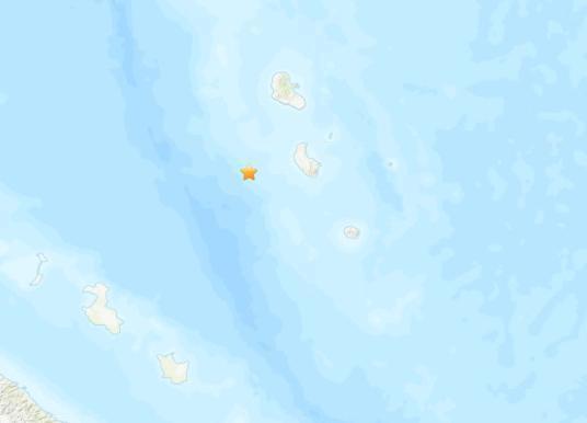 瓦努阿图四周海域发生5.5级地震 震源深度40.7公里 第1张