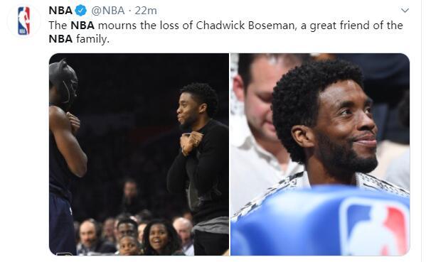 """""""黑豹""""去世,NBA悼念:他是NBA大家庭一位非常好的朋友"""
