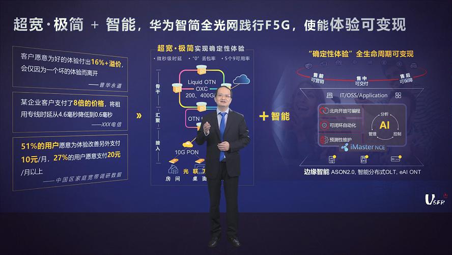 """华为宋越刚谈F5G:""""确定性体验""""可带来溢价机会"""