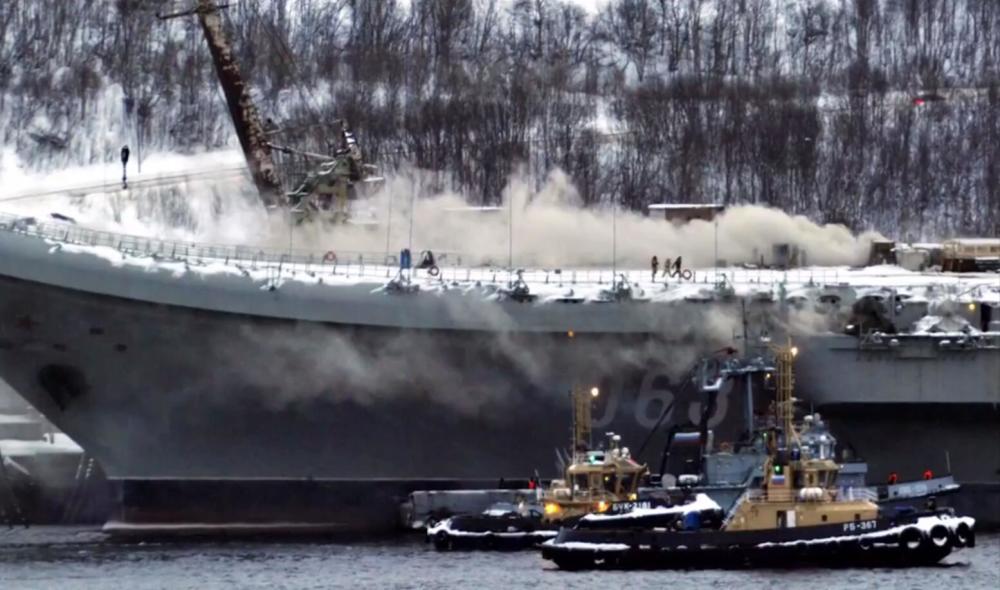 俄联合造船集团总裁:库兹涅佐夫号航母火灾损失超3亿卢布