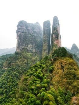 世界自然遗产:江郎山,丹霞地貌的杰作