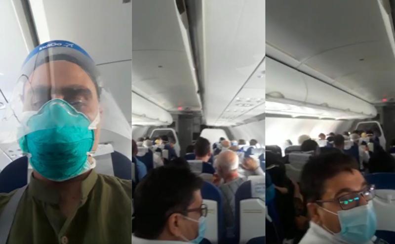 印度客机在空中剧烈颠簸乘客被吓到尖叫哭泣