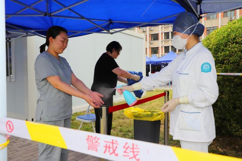 顺义胜利街道改善核酸检测点环境 累计完成核酸采样1.7万人份