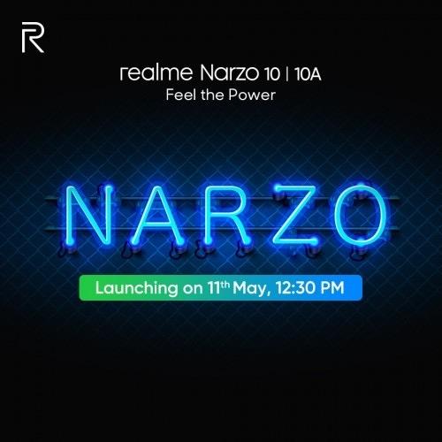 全新国产子品牌!Realme Narzo 10系列发布日期官宣:5月11日