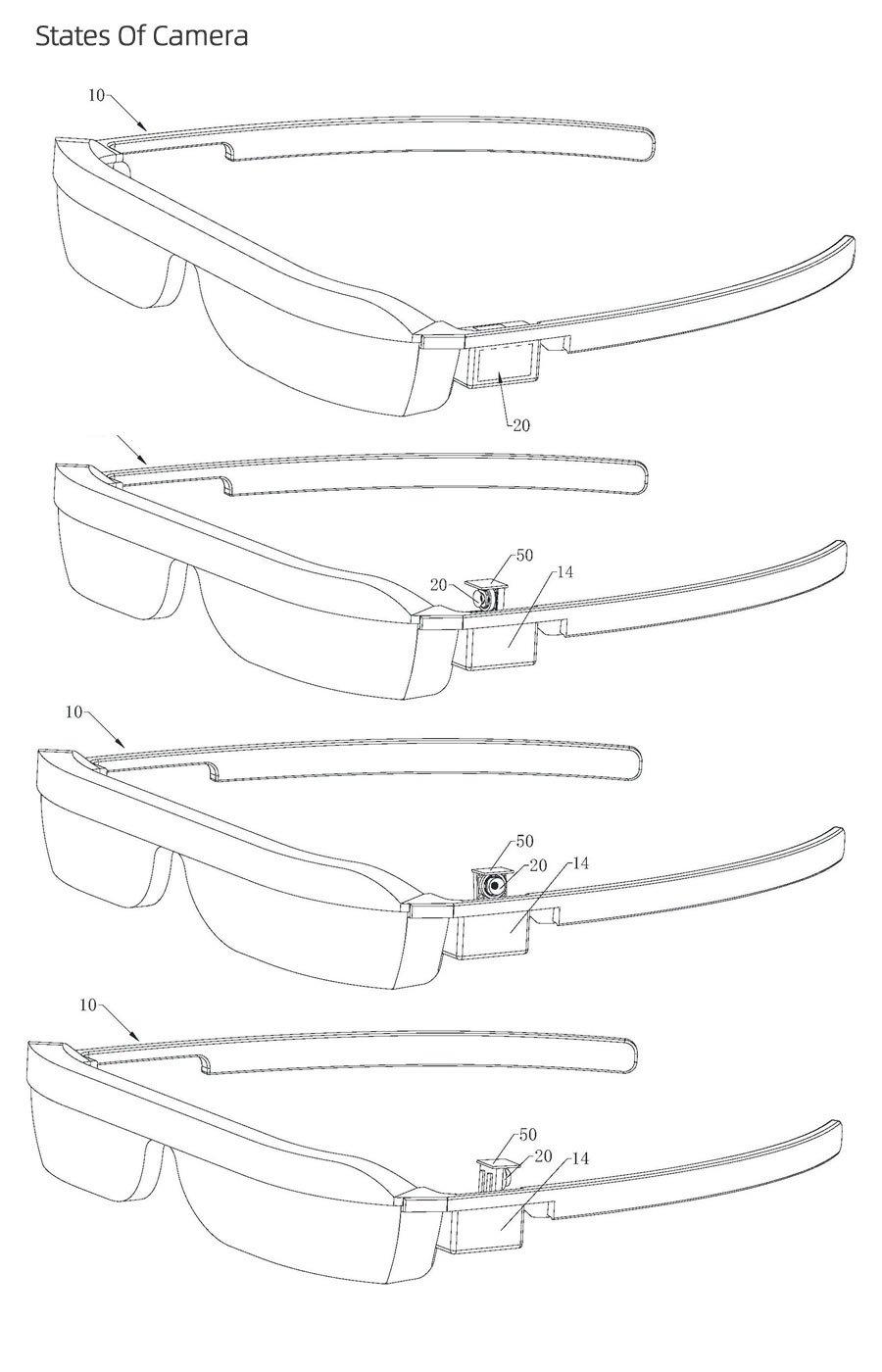 华为AR眼镜专利曝光:将采用旋转弹出式摄像头