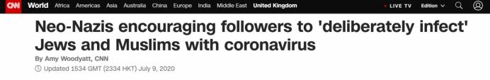 "allbet代理:英国反极端主义机构忠告:新纳粹正激励用新冠病毒""有意熏染""差别信仰整体"