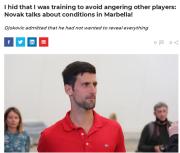 德约:疫情期间每天偷着训练?不晒视频避免激怒同行
