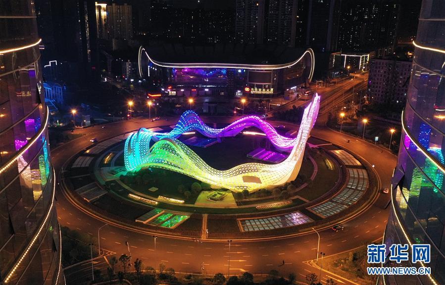武汉:灯光璀璨夜色美