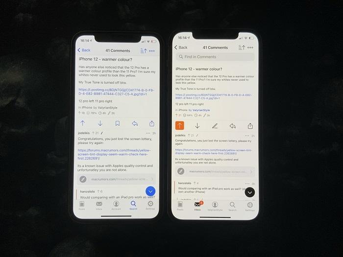 用户抱怨iPhone 12屏幕偏黄严重 问题由来已久
