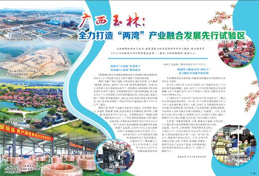 """广西玉林:全力打造""""两湾""""产业融合发展先行试验区"""
