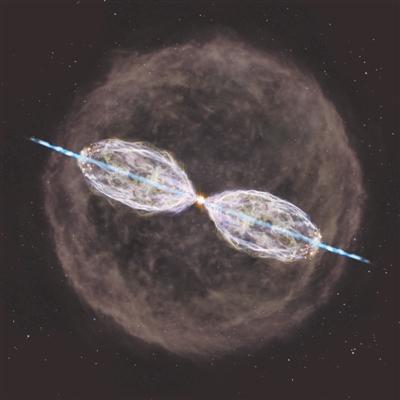 """ALMA发现一颗正在""""变身""""的恒星 喷射出高速双极气体喷流"""