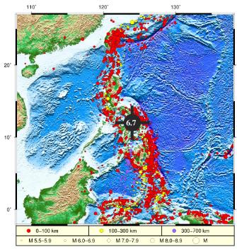 ug环球充值:菲律宾萨马岛海域发生6.7级地震 没有监测到海啸 第1张