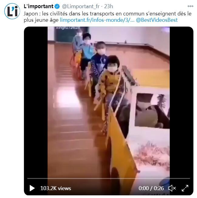 法国网站夸日本的公共交通文明教育,配的却是中国幼儿园的视频……