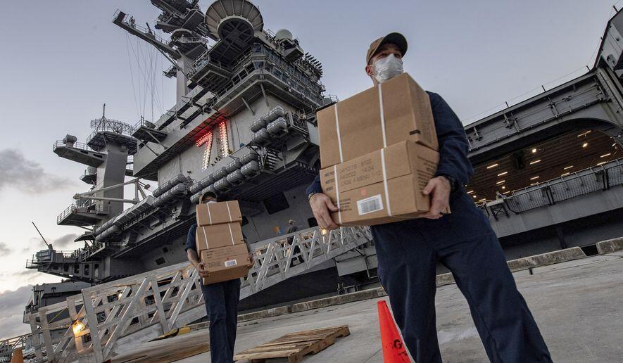 """""""罗斯福""""号航母感染人数逼近600关岛当地居民慌了"""