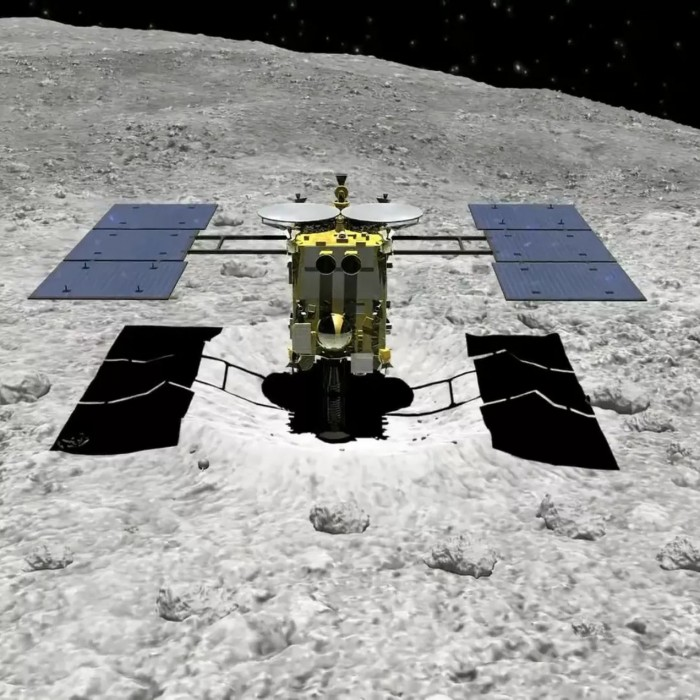 """""""隼鸟2号""""撞击小行星发表新论文 陨石坑如公交车般大小"""