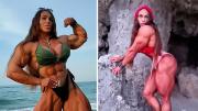 俄罗斯28岁健身女子如金刚芭比称不介意丈夫肌肉比自己小