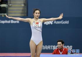 蹦床——世界杯系列赛巴库站:刘灵玲获女子网上个人亚军