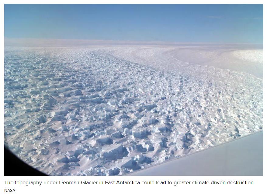 南极冰川融化加速 可能使全球海平面上升1.5米