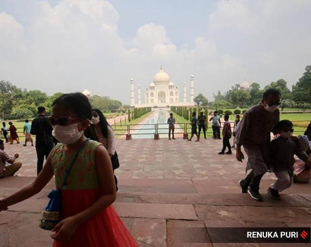印媒:此前印度严防中国人,现在中国游客最先造访泰姬陵 第3张