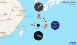 解放军宣布在台海演练之际美航母悄悄从东海溜了