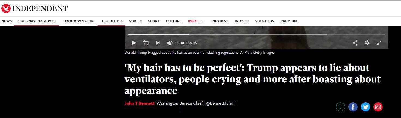 """大发体育:特朗普""""埋怨""""淋浴喷头不出水:我的头发一定要完善! 第1张"""