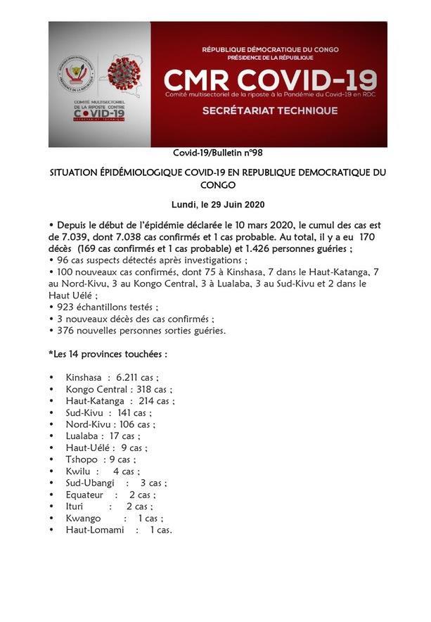 allbet gmaing官网:刚果(金)新增100例新冠肺炎确诊病例 累计确诊7038例 第1张