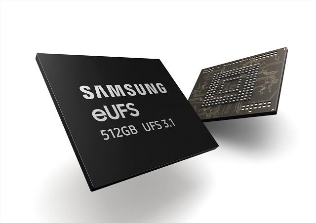 三星电子宣布已开始量产512GB封装容量的eUFS 3.1闪存