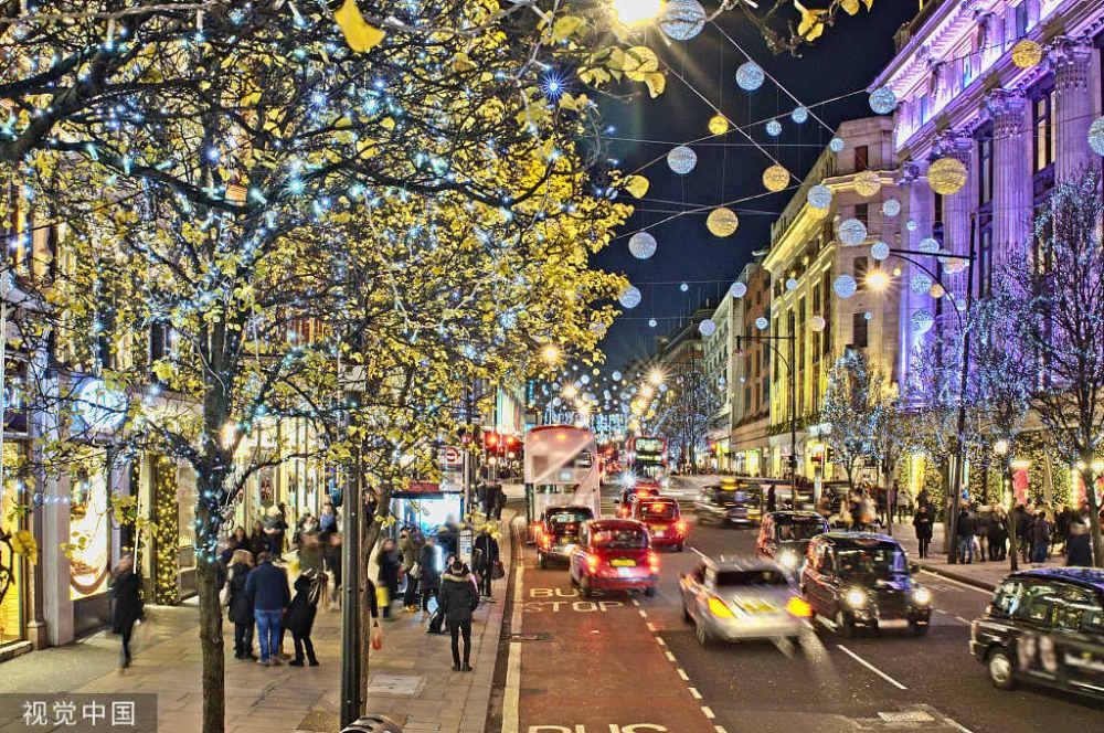 """值得一张机票的""""灯河星火"""":圣诞点灯仪式后的伦敦"""