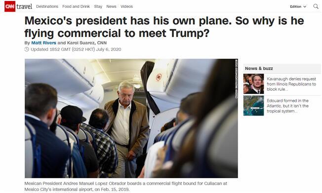 欧博allbet网址:墨西哥总统首次出国访问将乘商用飞机去美国见特朗普,为何不坐专机?美媒这样解答…… 第1张
