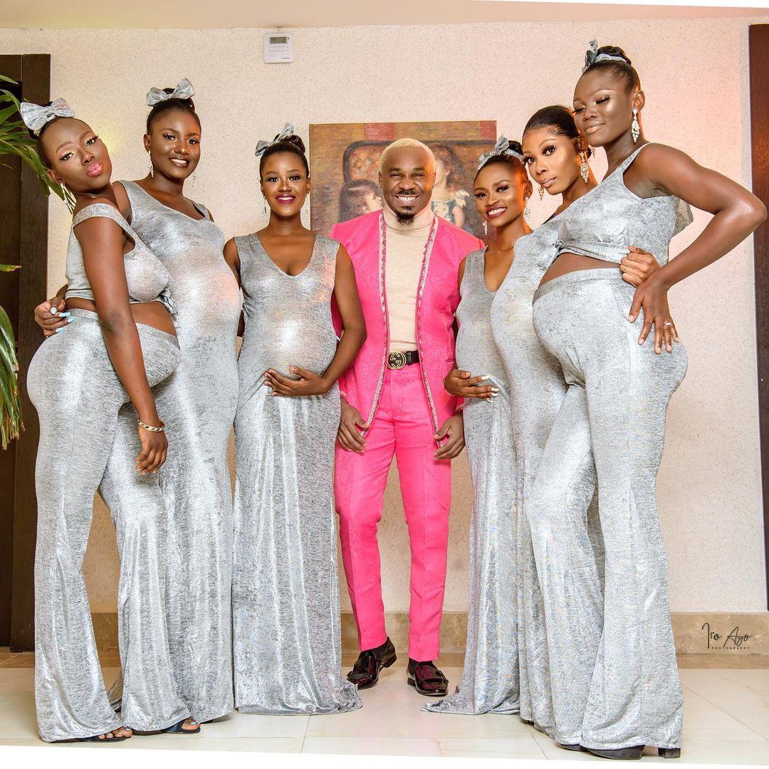 尼日利亚男子带6名怀孕女子参加婚礼