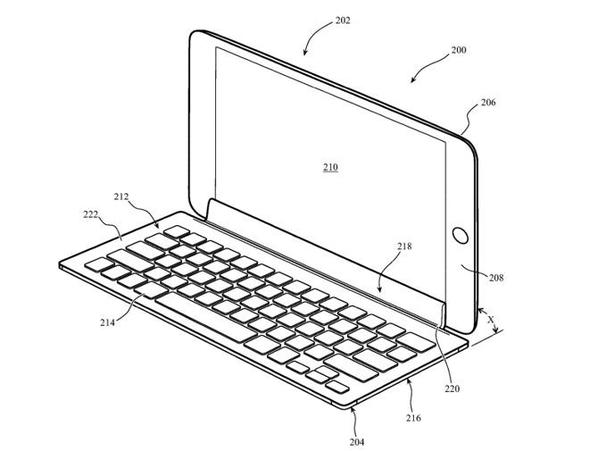 苹果新专利来了:未来iPad键盘可以连接到触摸屏进行输入