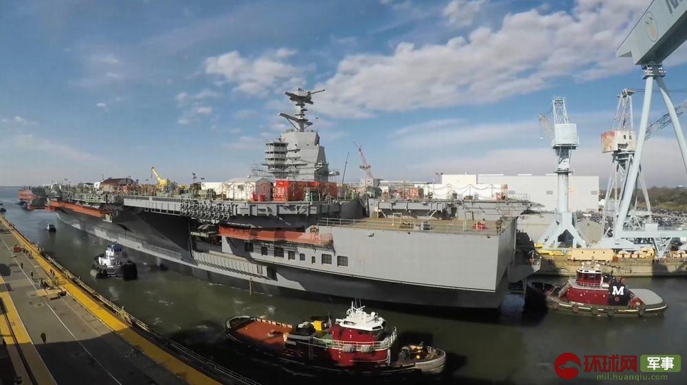 """中國首艘國產航母服役這天?美國在建新航母也""""動了"""""""