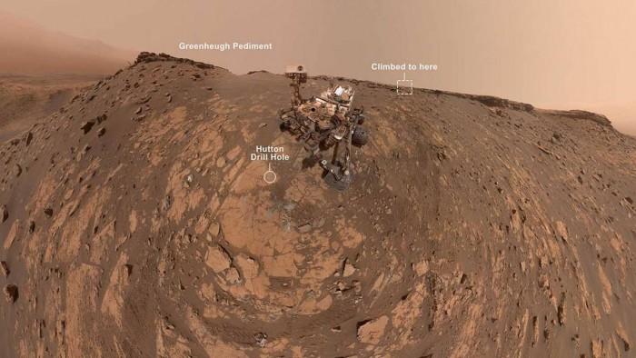 好奇号令人难以置信的3月自拍照标志着其在火星的新纪录活动