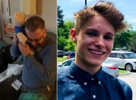 美国父亲捐献去世儿子器官收到录着儿子心跳声的礼物泪流满面