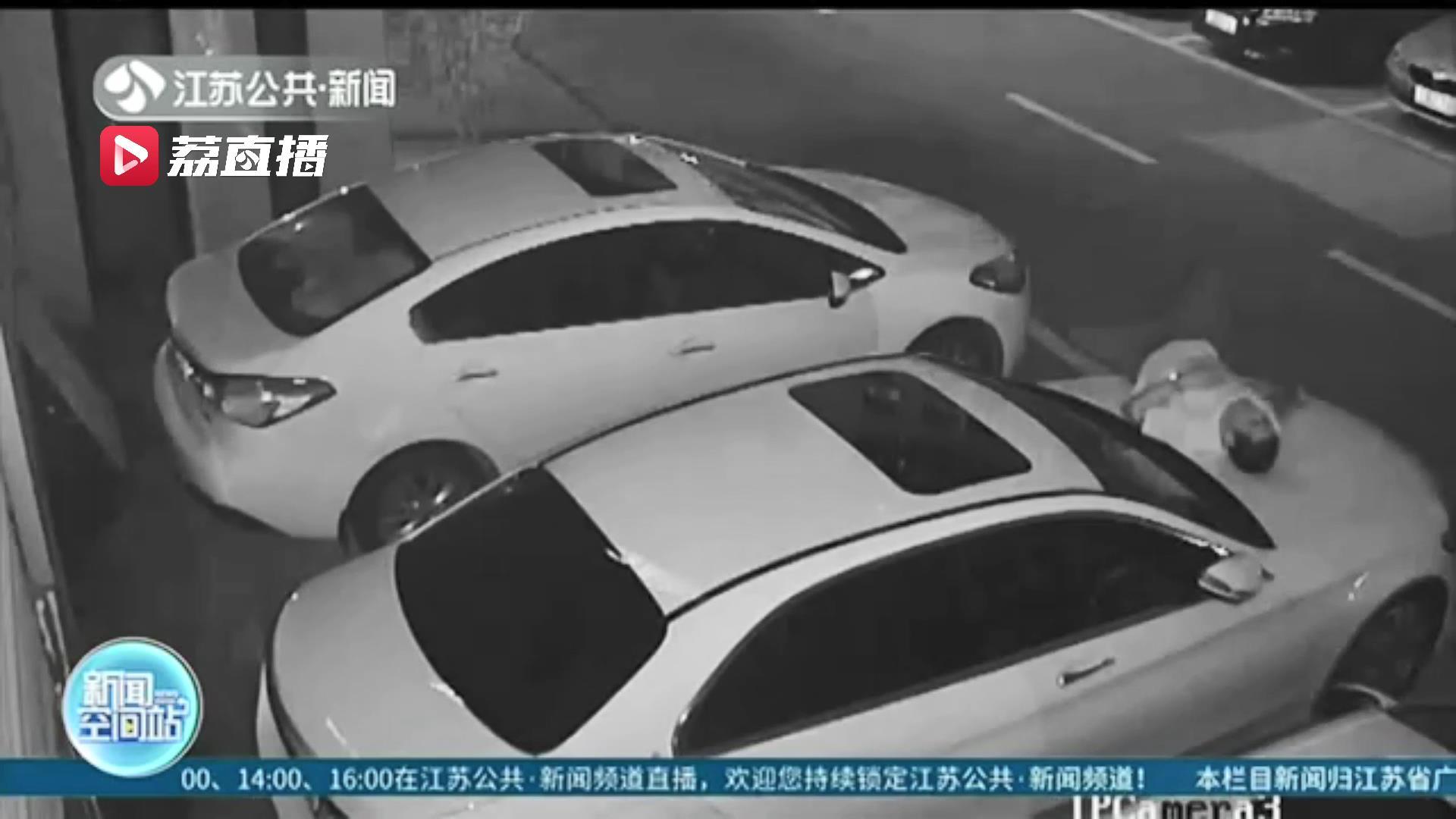 醉酒男子误将车当成床还躺着睡了一觉 结果:引擎盖被压扁了