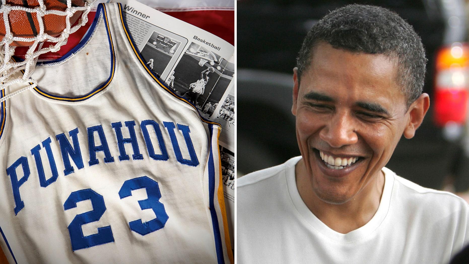 奥巴马高中时代球衣破『拍卖』纪录 【以近】20'万'美元成交 第1张