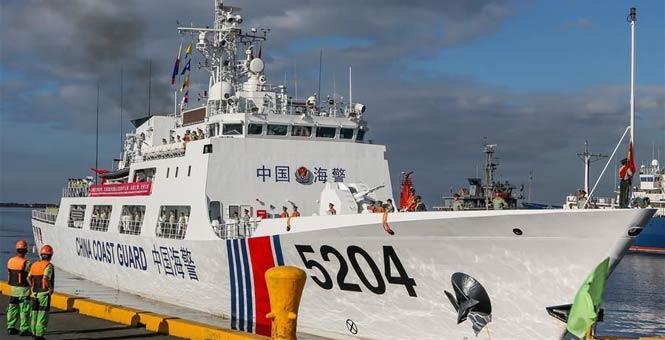 中国海警舰艇首次访问菲律宾