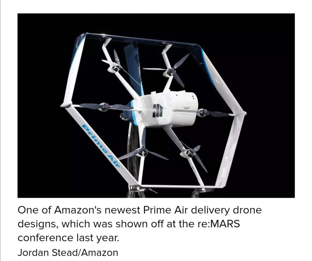 外媒:亞馬遜聘請波音前高管主管其Prime Air無人機交付業務 推出30分鐘無人機送貨服務