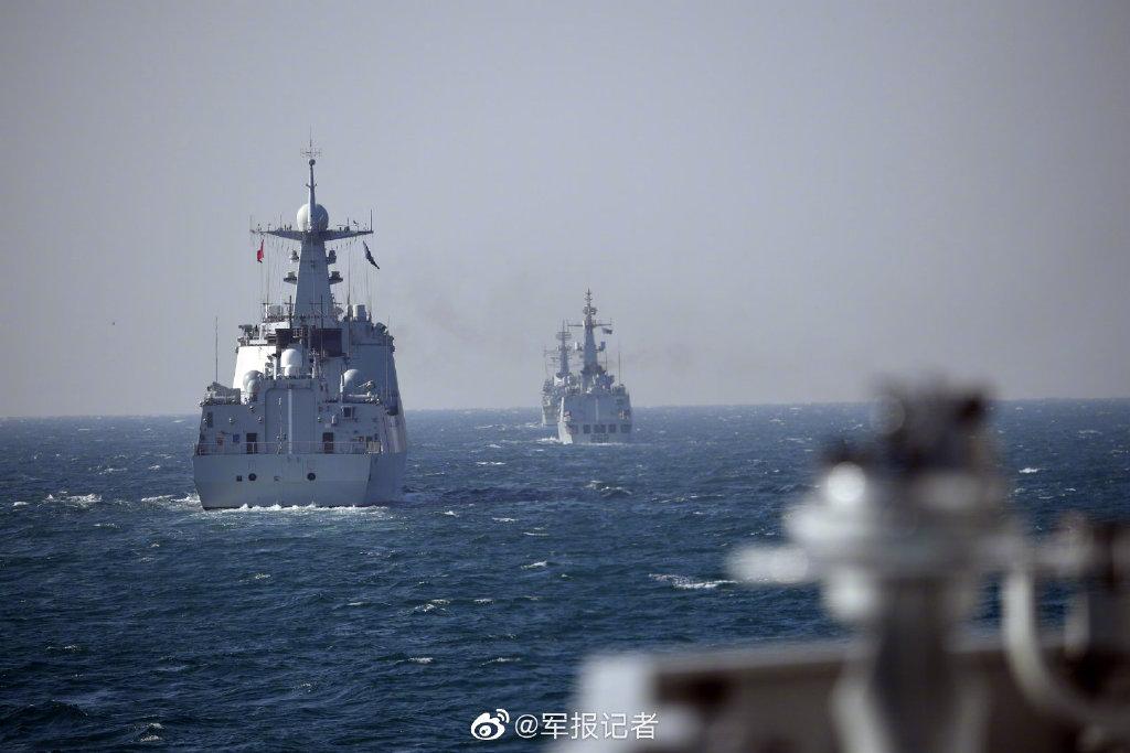 中巴联演海上阶段结束?052D舰与巴铁战舰演练多个课目