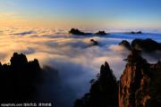 冬日黄山云海蔚为壮观