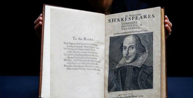 莎士比亚近400年前珍贵合集《第一对开本》将拍卖 估值数千