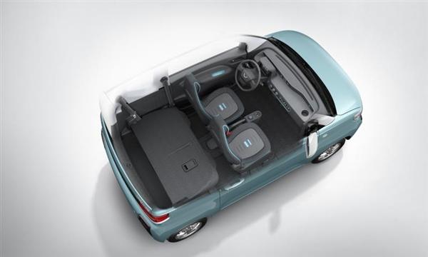 酷似日本K-Car五菱发布纯电动微型车内饰官图