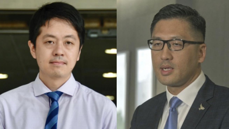 10名反对派立法会议员在香港法院提审
