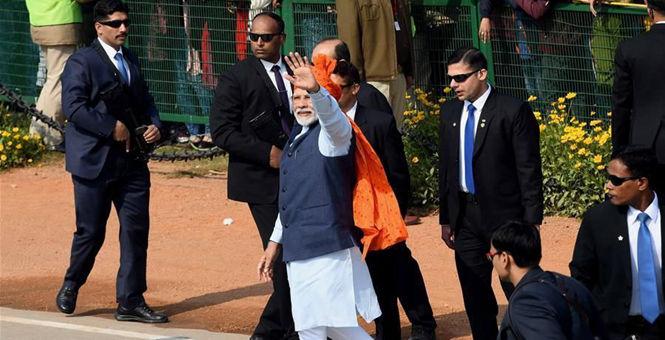 印度举行阅兵式,庆祝共和国日