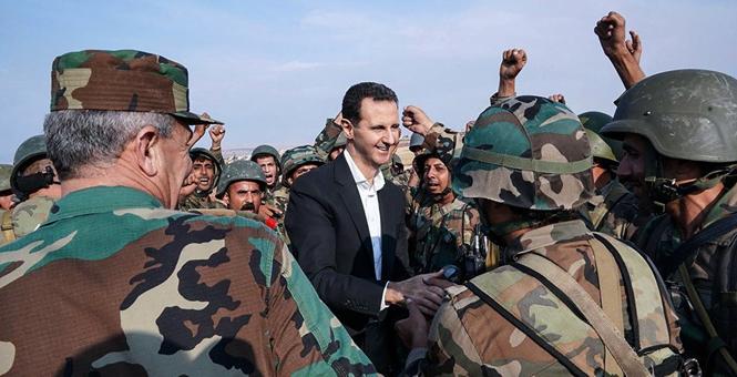叙利亚总统视察西北前线 接见政府军人员