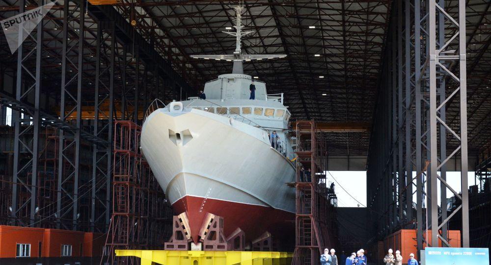 """俄新建小型导弹舰用上海基版""""铠甲""""弹炮合一武器"""